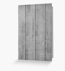 Board marked concrete, vertical texture Greeting Card