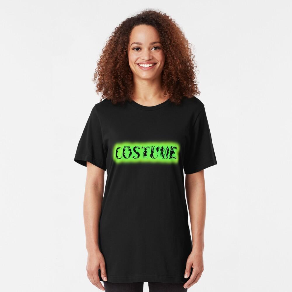 Monster-Lettered Costume (Green) Slim Fit T-Shirt