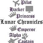 Lunar Chronicle characters by amandakoz