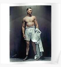 Jack Dempsey (colourised)  Poster