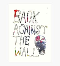 Back Against The Wall Art Print