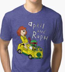 April and Raph Tri-blend T-Shirt