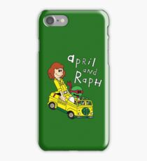 April and Raph iPhone Case/Skin