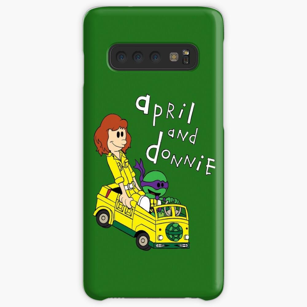 April y Donnie Funda y vinilo para Samsung Galaxy