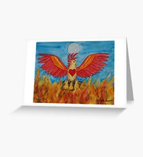 Born of Fire Greeting Card