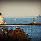 Wisconsin Lake Front shore line by Stephanie Wood