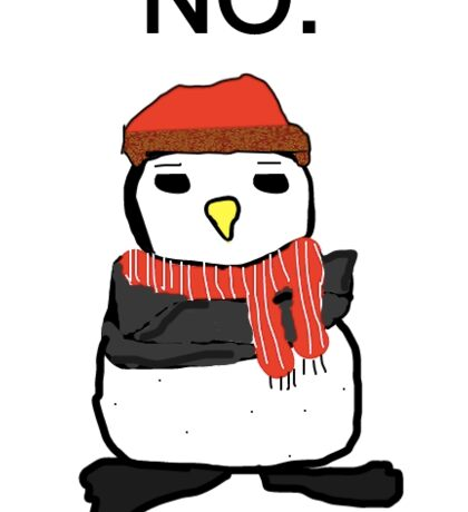 "Hugsy the Penguin (""No"") - Anthony Rosenthal  Sticker"