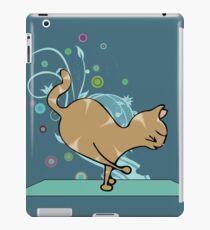 Shoulder Balance Orange Yoga Cat iPad Case/Skin