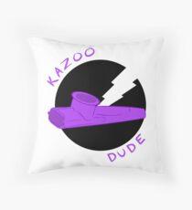 Kazoo Dude (Purple) Throw Pillow