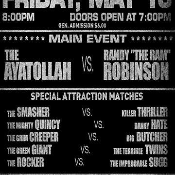 "The Wrestler - Randy ""The Ram"" Flyer (White) by Cinerama"