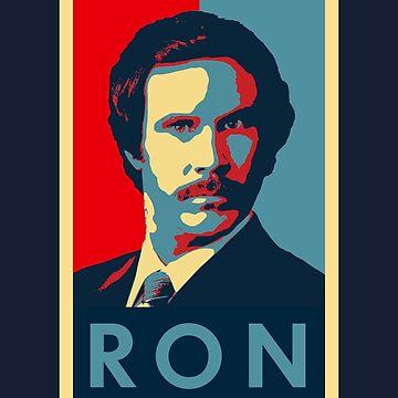 Ron Burgundy (Obama Style) by Cinerama