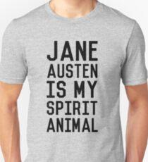 Jane Austen is my Spirit Animal_Black T-Shirt