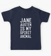 Jane Austen is my Spirit Animal_White Kids T-Shirt