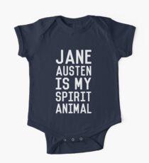 Jane Austen is my Spirit Animal_White One Piece - Short Sleeve