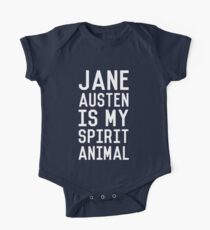 Jane Austen is my Spirit Animal_White Short Sleeve Baby One-Piece