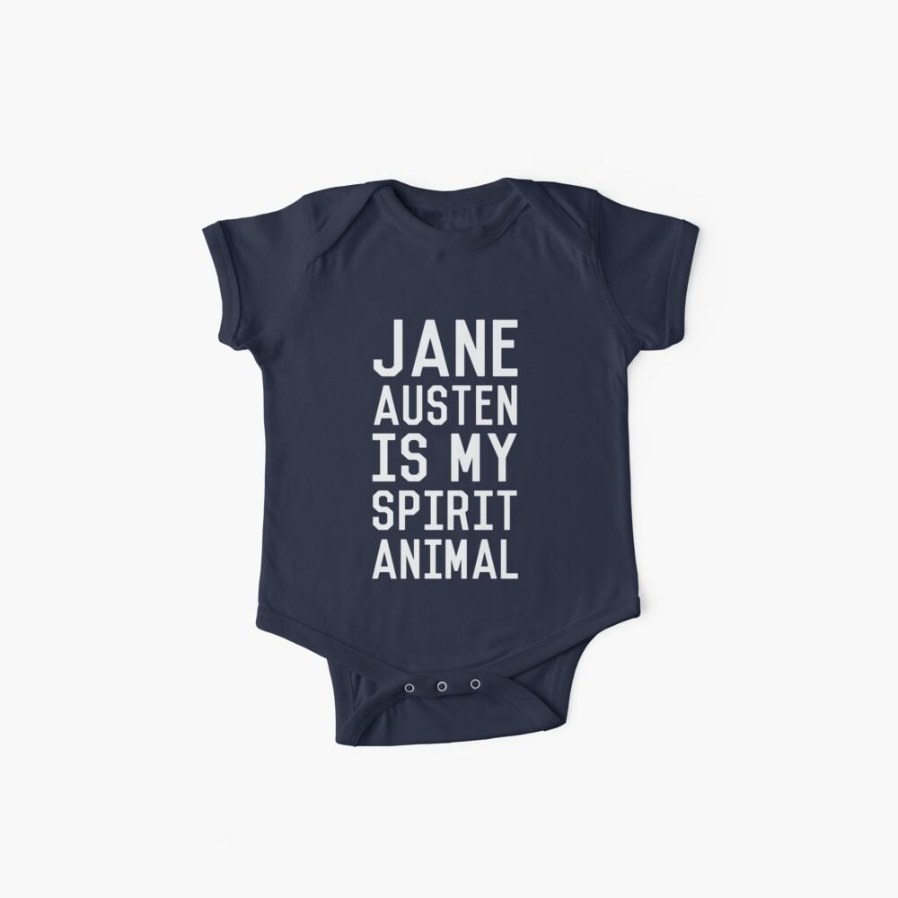 Jane Austen is my Spirit Animal_White Baby One-Pieces
