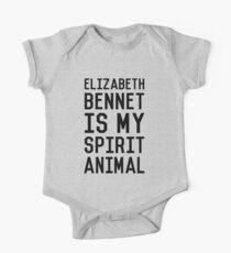 Elizabeth Bennet_Black Short Sleeve Baby One-Piece