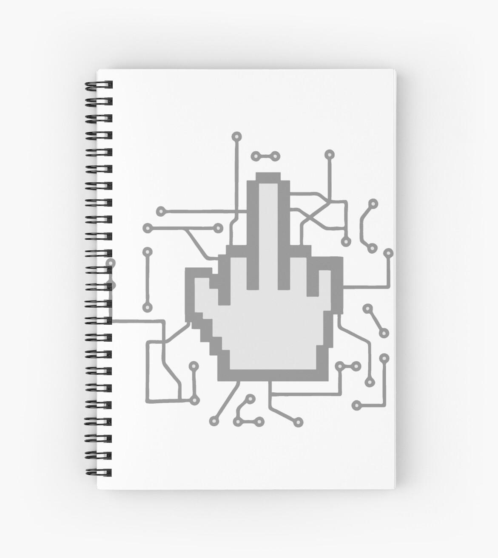 Computer Mouse Pointer Click Nerd Geek Circuits Nimble Finger Show Diagram Middle Symbol Fuck You Off
