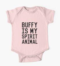Buffy is my Spirit Animal_Black One Piece - Short Sleeve