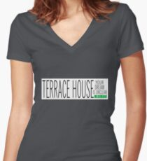 TERRACE HOUSE: YOUR DREAM IS UNCLEAR PLAIN Fitted V-Neck T-Shirt