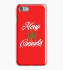 Merry Cannabis Christmas Weed & 420 T-shirt by Pot Leaf Tees iPhone Case/Skin