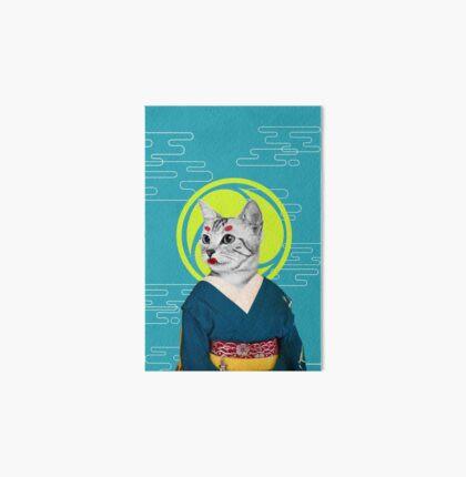 geisha cat Art Board