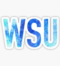 Watercolor WSU Sticker