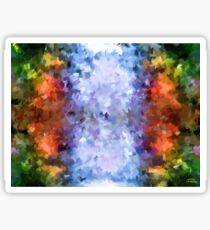 water reflection rain water puddle abstract, Sticker