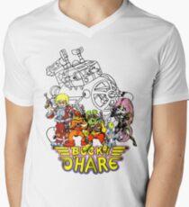 Bucky O'Hare - Logo - Group with Ship - Color Mens V-Neck T-Shirt