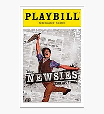 Colored Newsies Playbill Photographic Print