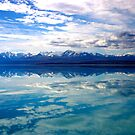 New Zealand lake and mountains landscape by John Wallace