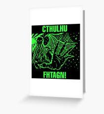 Cthulhu Godlike Greeting Card
