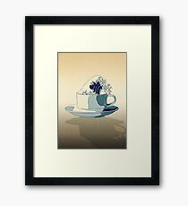 Storm in a Teacup - Tsea-nami! Framed Print