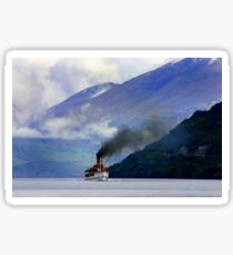 Steamship on the Lake Sticker