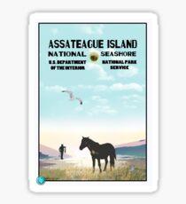 WPA Style Assateague Seashore Sticker