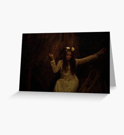 Melancholy Wild Child Greeting Card