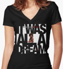 It was all a Dream - Cloud Nine [White] Women's Fitted V-Neck T-Shirt