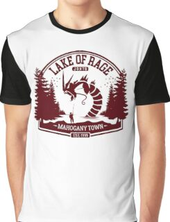 Pokemon - The Lake of Rage - Red Gyarados Graphic T-Shirt