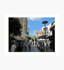 Queen Street Mall, City of Brisbane. Queensland. Aust. Art Print