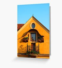 Czech House Greeting Card