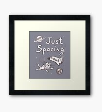 Just Spacing Out Cute Space Pun Humor Framed Print