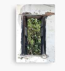 Window in Deteriorating House Canvas Print