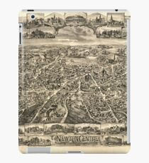 Panoramic Maps Newton Centre Massachusetts 1897 iPad Case/Skin