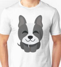 Boston Terrier Emoji Delighted Cheerful Look T-Shirt