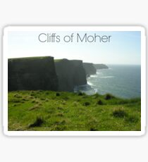 Captioned Cliffs of Moher Sticker