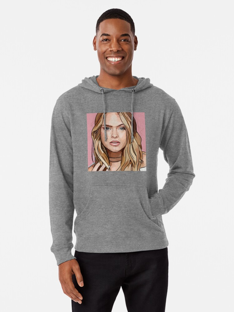 Mens Nothing is Real Strawberry Fields Fashion Long Sleeve Gray Cotton Hooded Sweatshirt Cartoon Trend