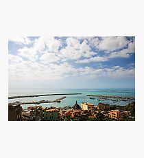 Calm Mediterranean afternoon, Port of Sciacca, Sicily Photographic Print