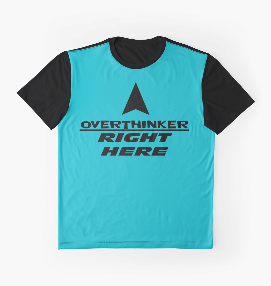 Black t shirt quotes - Overthinker Right Here Pisces Quotes Graphic T Shirts