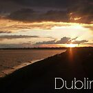 Captioned Dublin Bay Sunset by KaytLudi