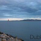 Captioned Dublin Bay with Lighthouse by KaytLudi